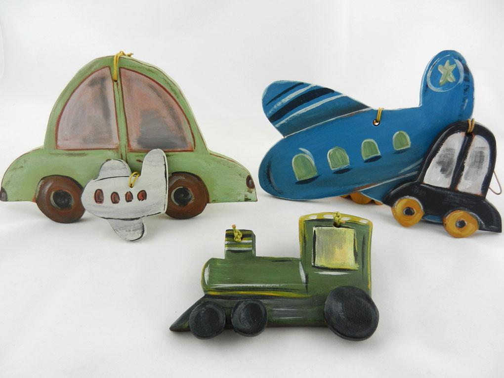 κεραμικά οχήματα χειροποίητα κρεμαστά