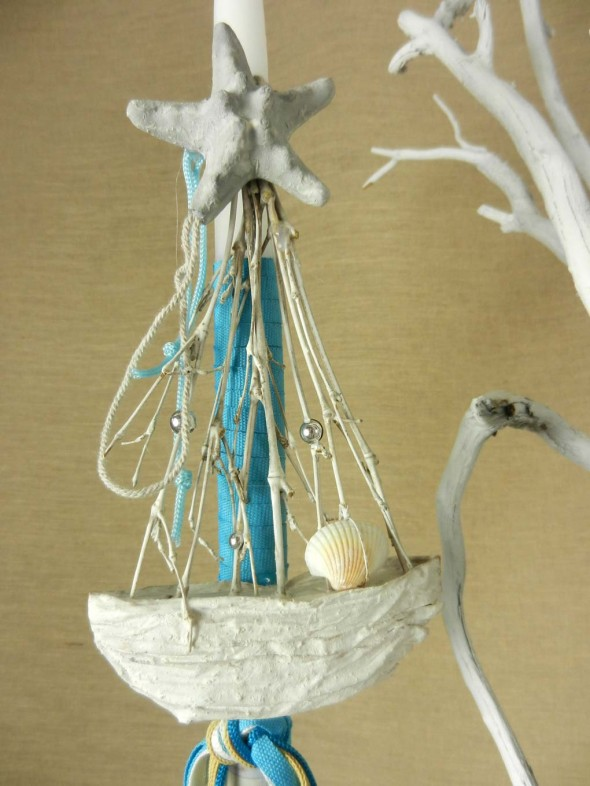 Πασχαλινή λαμπάδα με θαλασσινό θέμα