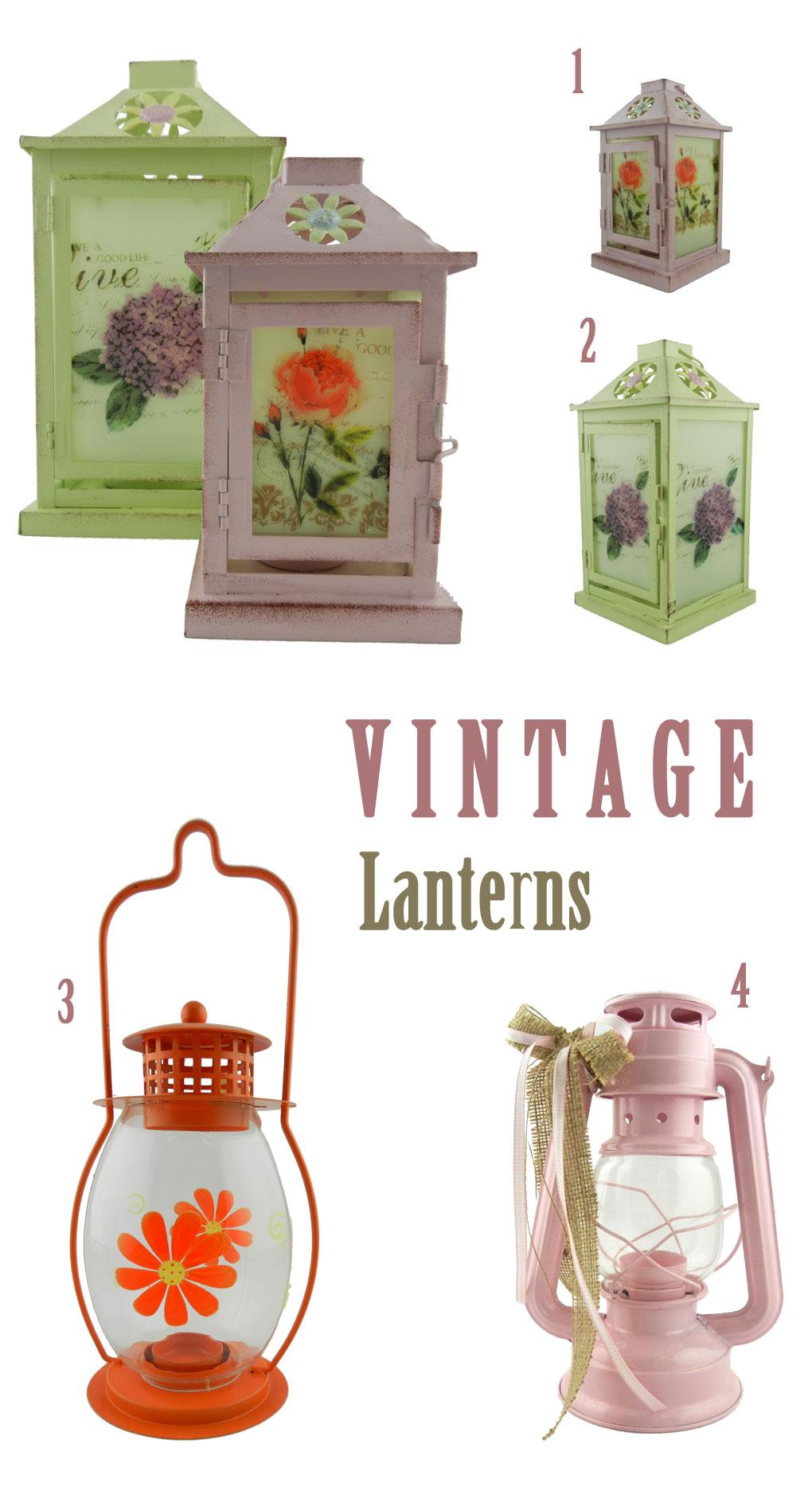 Φανάρια και λάμπες για κεριά σε vintage style