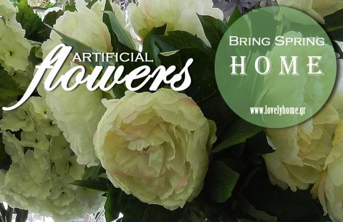 Λουλούδια σαν αληθινά που φέρνουν την Άνοιξη