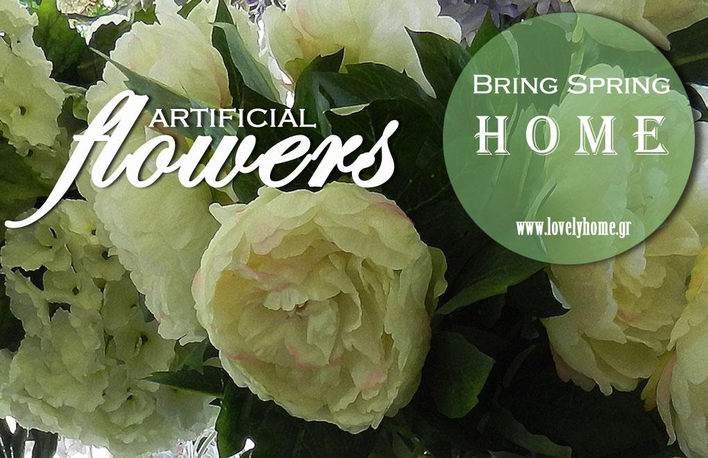 διακοσμητικά λουλούδια σαν αληθινά