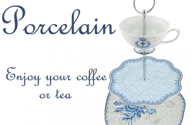 Σερβίτσιο για καφέ και τσάι από πορσελάνη