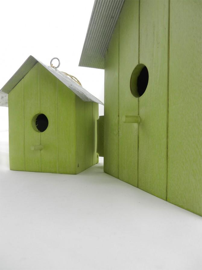 Ξύλινα σπιτάκια για πουλιά και για… άλλες απρόσμενες χρήσεις