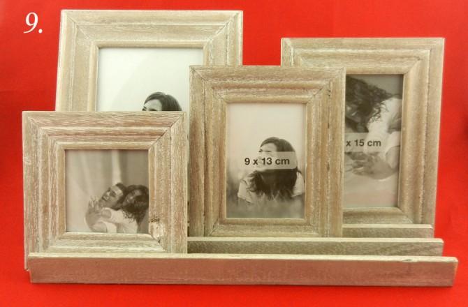ξύλινη φωτογραφοθήκη με 4 κορνίζες