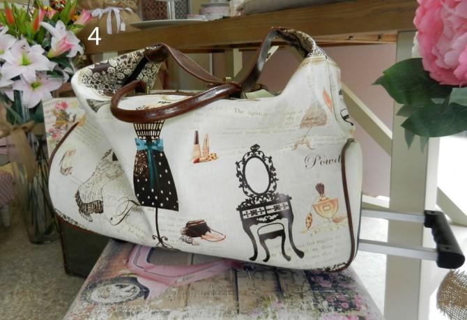γυναικεία τσάντα ταξιδίου με τηλεσκοπική λαβή