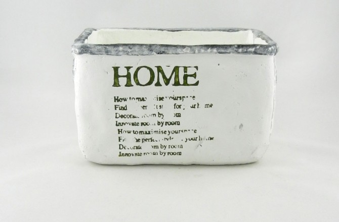 Λευκό κεραμικό κασπώ σειρά home