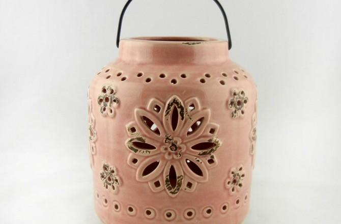 κεραμικό φανάρι ροζ
