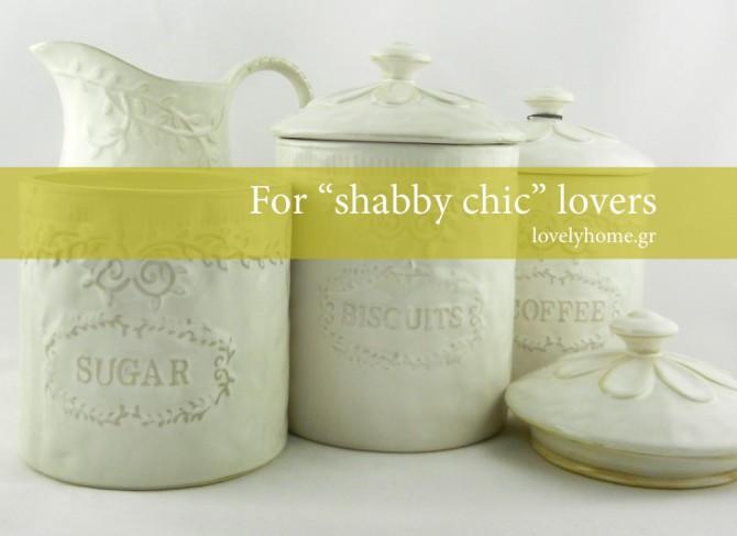 Πορσελάνινα αντικείμενα για shabby chic στυλ