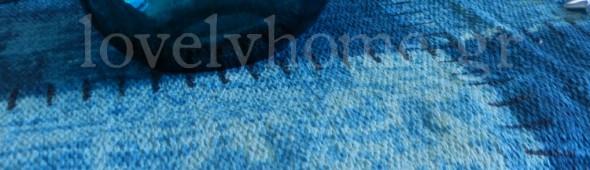 Χαλί patchwork μπλε