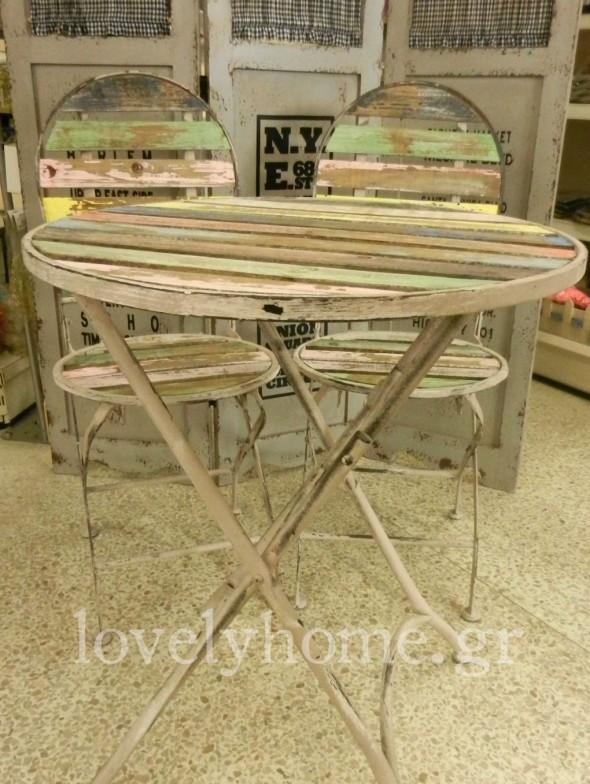Πτυσσόμενο τραπεζάκι και πτυσσόμενες καρέκλες για την βεράντα και τον κήπο