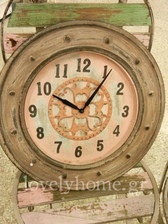 ρολόι τοίχου μεταλλικό vintage