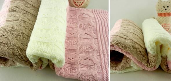 Κουβέρτα πλεκτή και ριχτάρι