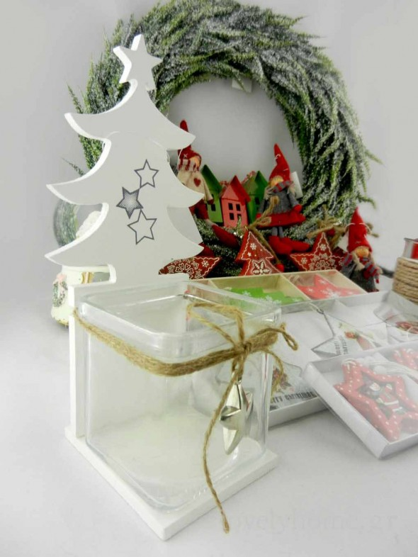 Χριστουγεννιάτικο διακοσμητικό για κερί