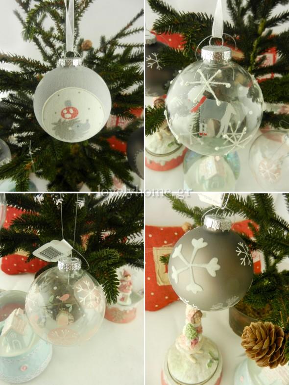 Γυάλινες χριστουγεννιάτικες μπάλες