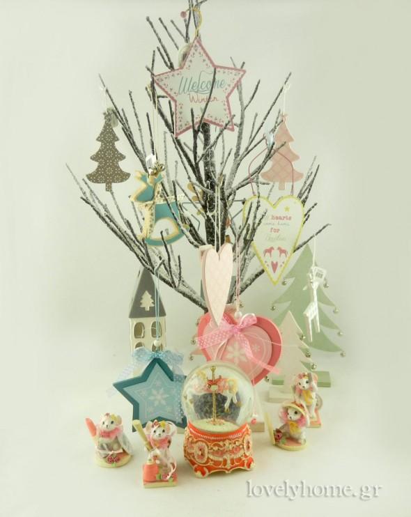 Παστέλ χρώματα για το Χριστουγεννιάτικο δέντρο