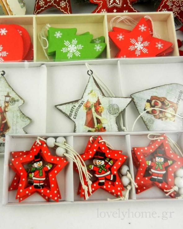 Διάφορα σετ με χριστουγεννιάτικα στολίδια