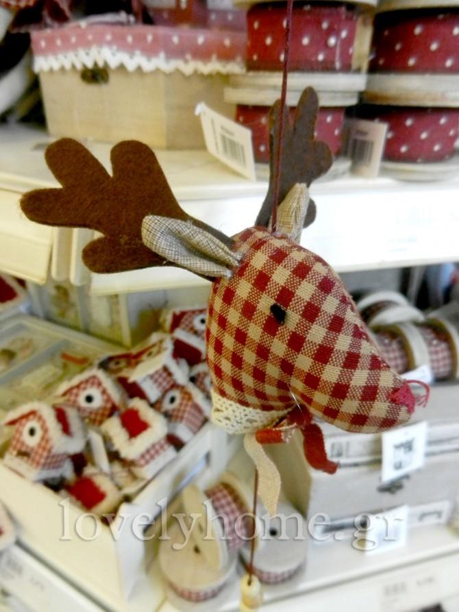 Χριστουγεννιάτικα στολίδια για το δέντρο και το τζάκι