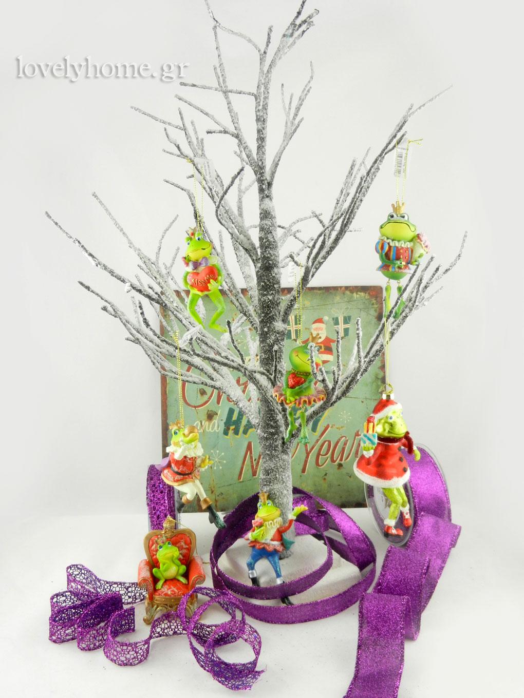 Βάτραχοι στολίδια για το δέντρο