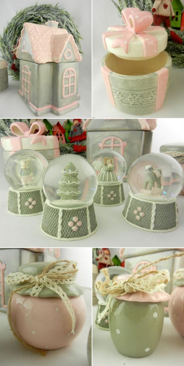 Σύνθεση με διακοσμητικά και χριστουγεννιάτικα δώρα