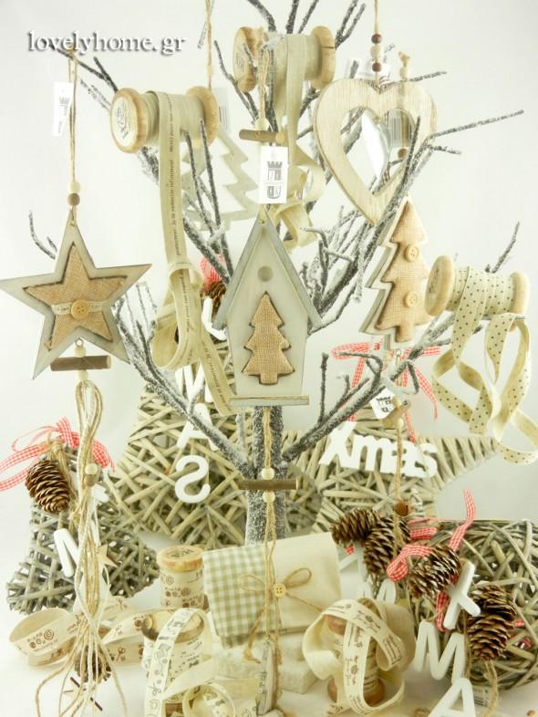 Ξύλινα στολίδια για χριστουγεννιάτικα δωράκια στους καλεσμένους