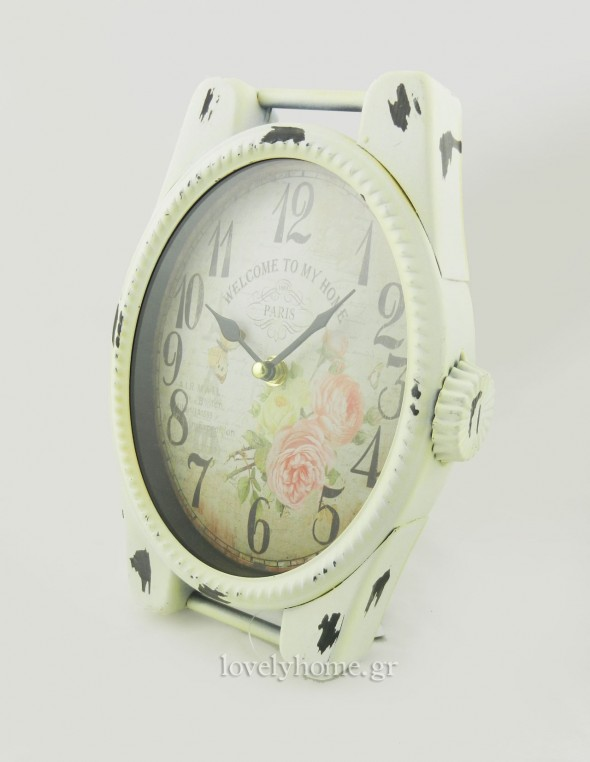 Vintage μεταλλικό ρολόι τοίχου, αλλά και επιτραπέζιο