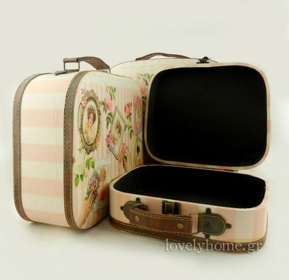 Σετ 3 βαλίτσες γυναικείες για αποθήκευση νεσεσέρ προσωπικά αντικείμενα