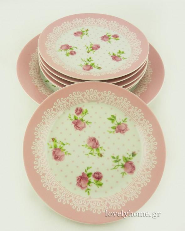 Πιάτα γλυκού σετ 7 τεμαχίων 12,95 ευρώ