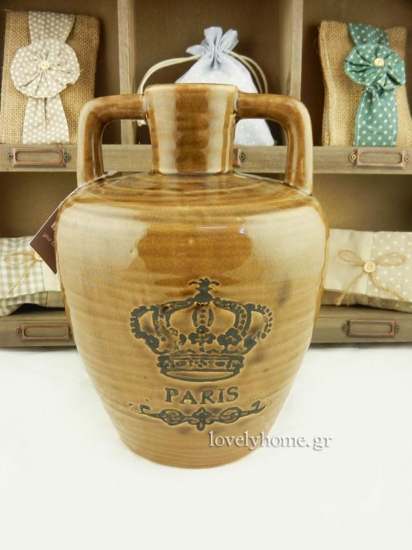 Κεραμικός βάζο σε στυλ αμφορέα - στάμνας κωδ: 04120754 τιμή 15,32 ευρώ χωρίς ΦΠΑ