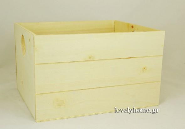 Ξύλινο κουτί χωρίς καπάκι - ξυλοκιβώτιο 27x22x16 εκ. Κωδ:15030084 Τιμή χωρίς ΦΠΑ 4,49 ευρώ