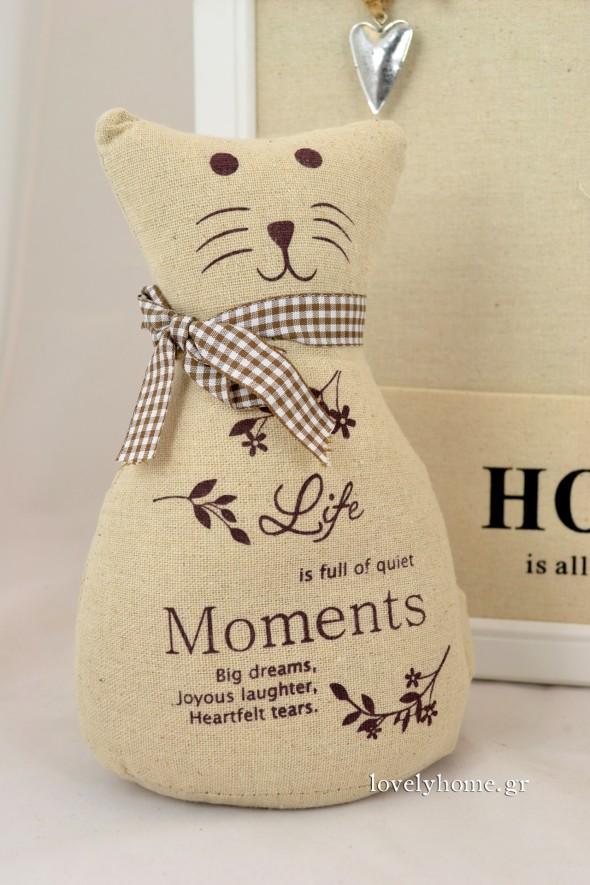 Door stop υφασμάτινο σε σχέδιο γάτα με καρό φουλάρι Κωδ:04105097 Τιμή χωρίς ΦΠΑ 6,77 ευρώ