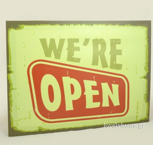 We are open Κωδ:04103339 Τιμή χωρίς ΦΠΑ 2,70 ευρώ