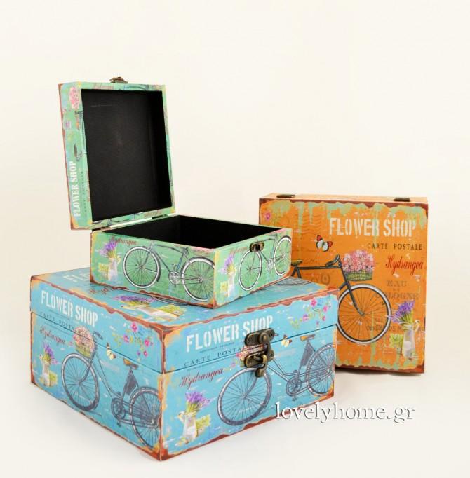 Vintage αποθηκευτικά κουτιά και μπαούλα