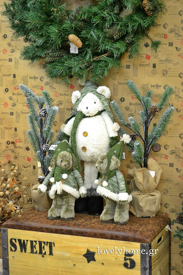Χριστουγεννιάτικα διακοσμητικά αρκουδάκια