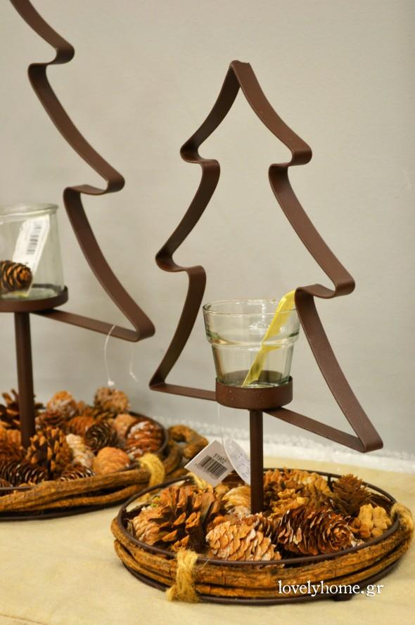 Χριστουγεννιάτικα δεντράκια για κερί με βάση