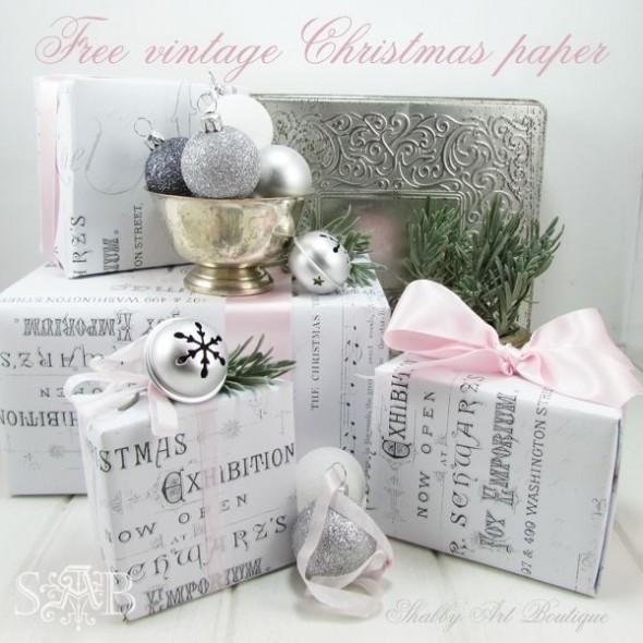 Τυλίξτε τα δώρα σας με διάφορα χαρτιά περιτυλίγματος και ολοκληρώστε με κορδέλες που καταλήγουν σε φιόγκους και συμπληρώνονται με διάφορα διακοσμητικά, όπως τα κουδουνάκια jingle bells που είναι ένα χαρακτηριστικό χριστουγεννιάτικο στοιχείο