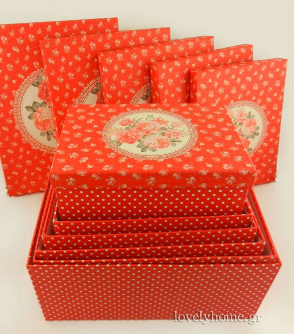 Χάρτινα κουτιά σε σετ για την καλύτερη οργάνωση των προσωπικών σου αντικειμένων ή του γραφείου, αλλά και για το αμπαλάζ των δώρων σου