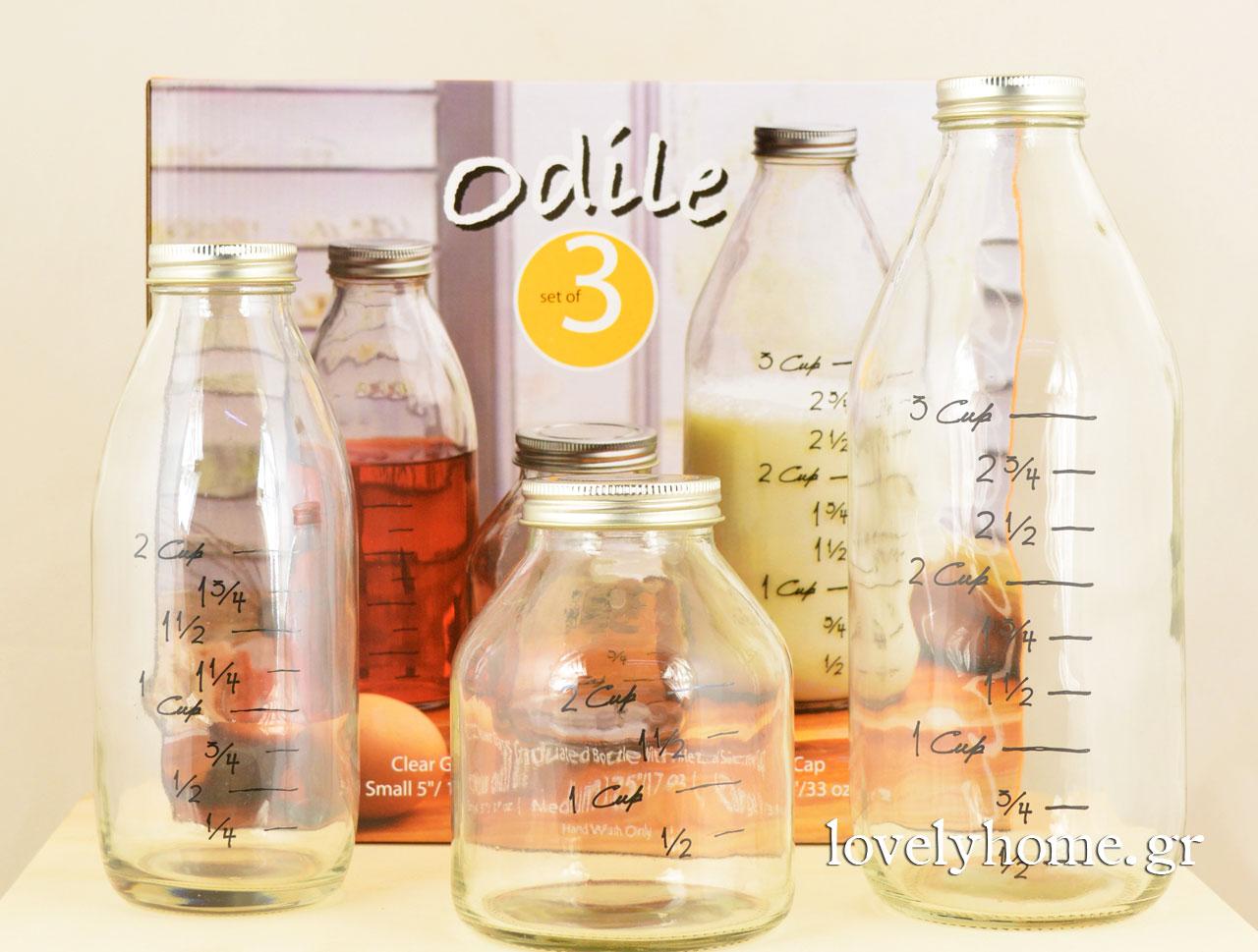 Σετ 3 μπουκάλια με μεζούρα Κωδ:04105469 Τιμή χωρίς ΦΠΑ 9,23 ευρώ