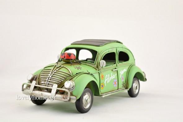 Μινιατούρα αυτοκίνητο, σκαραβαίος σε πράσινο χρώμα Κωδ:04105941