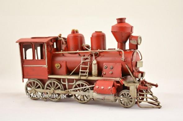 Ατμομηχανή τρένου σε κόκκινο χρώμα Κωδ:04121047 - Μινιατούρα αυτοκίνητο, σκαραβαίος σε πράσινο χρώμα Κωδ:04105941