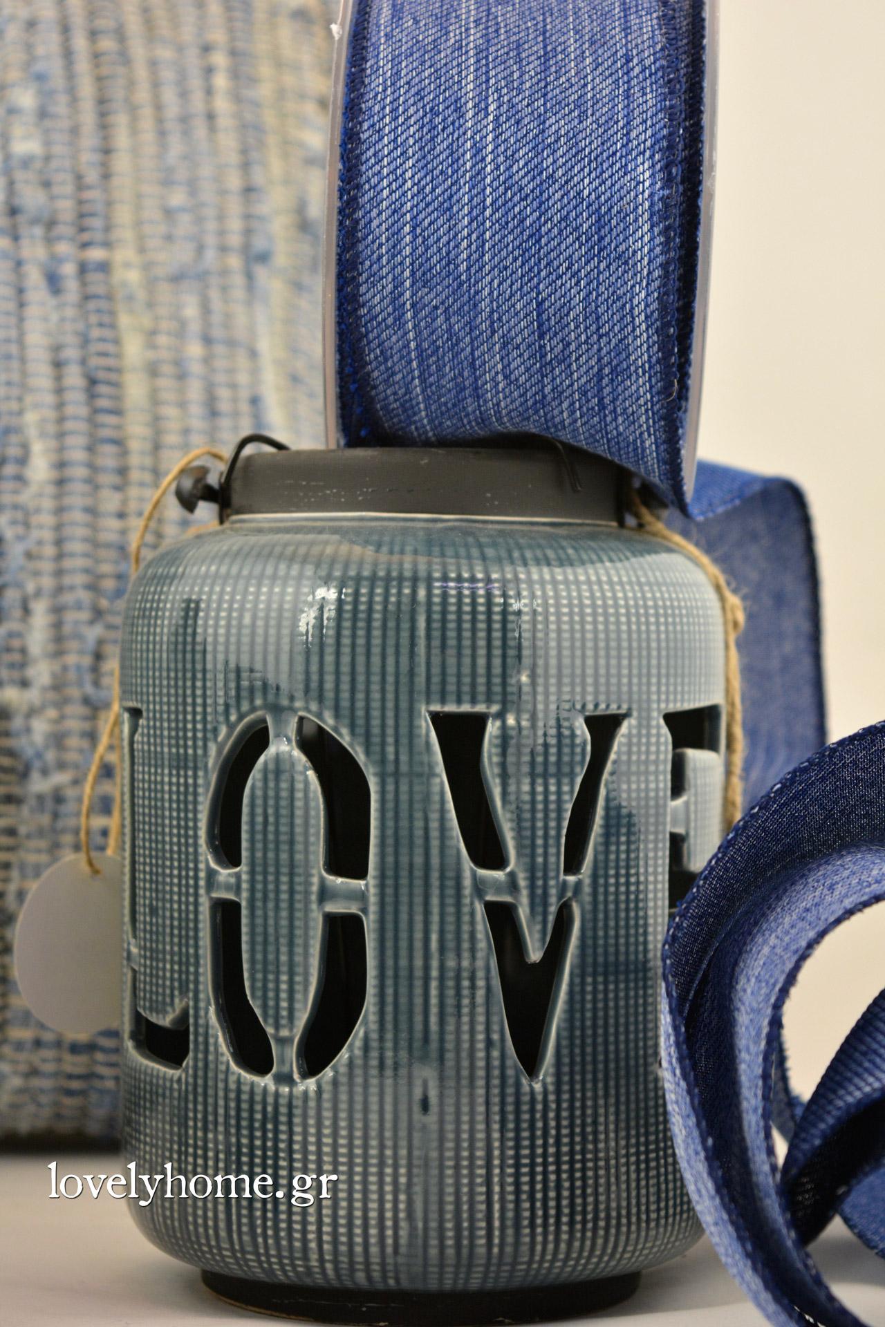 Κεραμικό φανάρι LOVE 12x18 εκ. Κωδ:04103993 Τιμή χωρίς ΦΠΑ 10,59 ευρώ