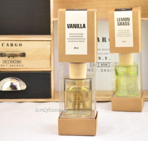 Αρωματικό χώρου με διακριτικό άρωμα Vanilla ή Lemon Grass Κωδ:04104821Τιμή χωρίς ΦΠΑ 5,29 ευρώ