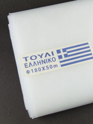 touli lefko elliniko tulle white greek