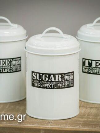 Μεταλλικά κουτιά καφέ-ζάχαρη-τσάι Κωδικός: 04106598