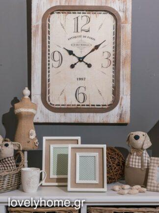 Ρολόϊ τοίχου ξύλινο MDF με τζάμι 55εκ Χ 70εκ Κωδικός: 04106545 Τιμή: 53,76 ευρώ πλέον ΦΠΑ