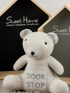 Υφασμάτινο στοπ πόρτας αρκουδάκι Κωδ:04106522 Τιμή χωρίς ΦΠΑ 7,35 ευρώ