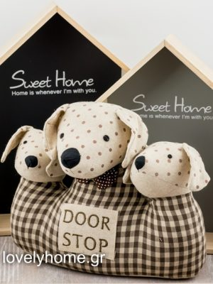 Υφασμάτινο στοπ πόρτας 3 σκυλάκια Διάσταση 31εκ Χ 10εκ Κωδ:04106524 Τιμή χωρίς ΦΠΑ 10,06 ευρώ