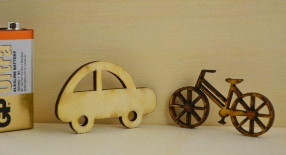 Ποδηλατάκια και αυτοκινητάκια κρεμαστά για μπομπονιέρες