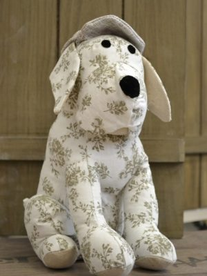Door stop doggy floral