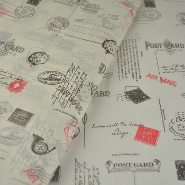 Tissue paper post office theme