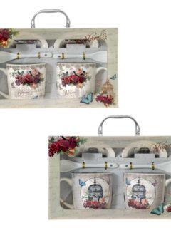 Κουτι με κούπες Floral Vintage
